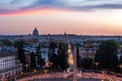 Praça del Popolo Roma Fotografia de Stock