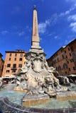 Praça del Popolo.Rome Imagens de Stock