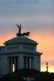 Praça del popolo um Roma Foto de Stock
