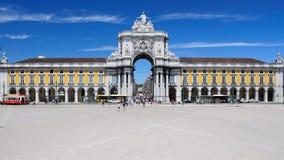 Praça do Comércio - het Vierkant van de Handel in Lissabon Royalty-vrije Stock Foto