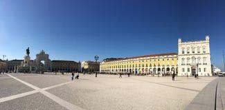 Praça do Comércio panorama Royalty Free Stock Image