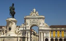 Praça fa Comércio - Lisbona, Portogallo Fotografia Stock