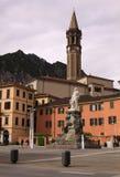 Praça Mario Cermentani, na cidade de Como Imagens de Stock
