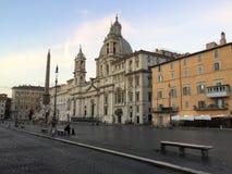 A praça Navona é um quadrado em Roma, Itália fotografia de stock