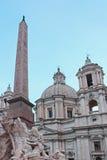 Praça Navona de Quattro Fiumi do dei de Fontana Imagens de Stock