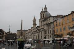 Praça Navona de Roma em Itália Foto de Stock