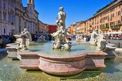 Praça Navona em Roma, Itália fotografia de stock
