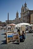 Praça Navona, Roma Foto de Stock Royalty Free