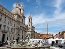 Praça Navona, Roma Fotos de Stock