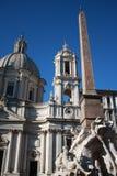 Praça Navona um Roma Foto de Stock Royalty Free