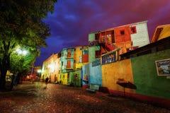 Praça pública no La Boca, Buenos Aires, Argentina Tomado durante Imagens de Stock Royalty Free
