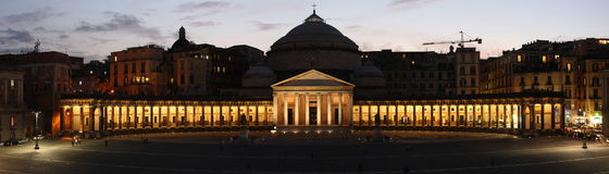 Praça Plebiscito Napoli Fotos de Stock Royalty Free