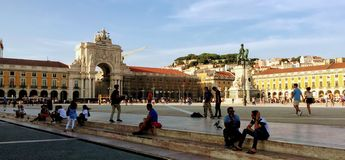 Praça robi Comércio Obraz Royalty Free