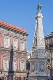 Praça San Domenico Maggiore Fotos de Stock