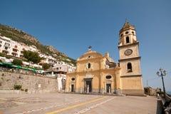 Praça San Gennaro da costa de Praiano Amalfi Foto de Stock Royalty Free