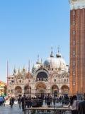 Praça San Marco na cidade de Veneza na mola Fotografia de Stock