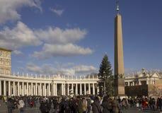 Praça San Pietro em Roma Fotos de Stock Royalty Free