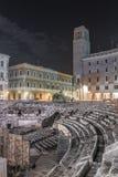 Praça Santo Oronzo e Roman Amphitheatre em Lecce Lecce, Apul fotografia de stock