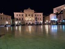 Praça Tartini, Piran, Eslovênia, Europa, Fotografia de Stock Royalty Free