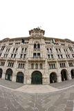 Praça Unità de Trieste no fisheye imagem de stock royalty free