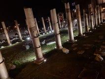 Praça Venezia na noite fotos de stock royalty free