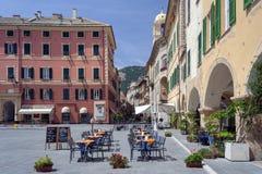 Praça Vittorio Emanuele II no final Ligure Itália fotografia de stock