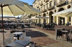 Praça Vittorio, Torino, Itália imagens de stock