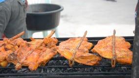 Prażaka kurczak, Tajlandzki jedzenie zbiory wideo