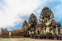 Pra bombarda Sam Yod, Lopburi Tailandia Fotografia Stock Libera da Diritti