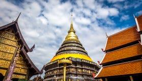Pra das Lampang Luang, der berühmte alte buddhistische Tempel Lizenzfreie Stockbilder
