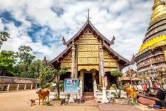 Pra das Lampang Luang, der berühmte alte buddhistische Tempel Lizenzfreie Stockfotos