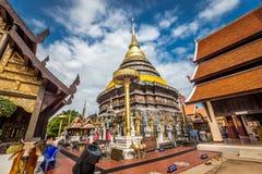 Pra das Lampang Luang, der berühmte alte buddhistische Tempel Stockbilder
