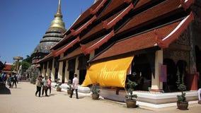 Pra de Wat ese Lampang Luang Templo budista del estilo de Lanna metrajes