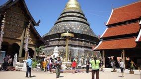 Pra de Wat esse Lampang Luang Templo budista do estilo de Lanna vídeos de arquivo