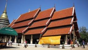 Pra de Wat esse Lampang Luang Templo budista do estilo de Lanna video estoque