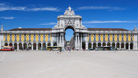 Praça do Comércio - Commerce Square in Lisbon Royalty Free Stock Photo