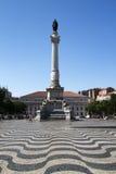 Praça dom Pedro IV, Lisbon, Portugal Stock Image