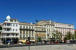 Praça dos Restauradores, Lisbon, Portugal Stock Image