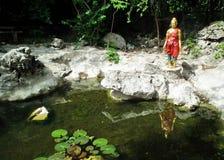 Pra-ha cantato: del tipo di statua in letteratura PARCO del Nang-Pentola-Tu-ratto dovuto l'iniziativa Immagini Stock