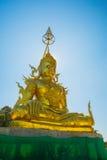 Pra Kat Maha Jakkrapat sutta, Buddha złota statua Obrazy Royalty Free