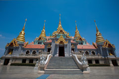 Pra Maha That chedi Pukdee Prakard. Majestic Pagoda built to honor King Rama IX,Thailand Royalty Free Stock Photography