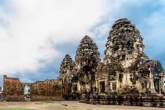 Pra Prang Sam Yod, Lopburi Tailândia Fotografia de Stock Royalty Free