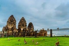Pra Prang Sam Yod, Lopburi Tailândia Fotografia de Stock