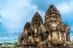Pra Prang Sam Yod, Lopburi Tailândia Imagens de Stock Royalty Free