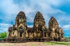 Pra Prang Sam Yod, Lopburi Tailandia Imagen de archivo