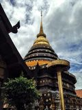 Pra tad lampang louang pagoda, Tajlandia Zdjęcia Royalty Free