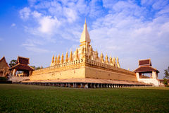 Pra tat luang pagoda Royalty Free Stock Photo