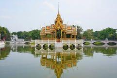 Pra Thinang Aisawan Thiphaya-Art Pavilion. At Bang Pa-In Palace, Thailand Stock Photo