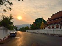 Pra Wat поет Chiangmai Таиланд стоковые изображения rf