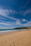 Praa зашкурит пляж, Корнуолл, Великобританию стоковое фото